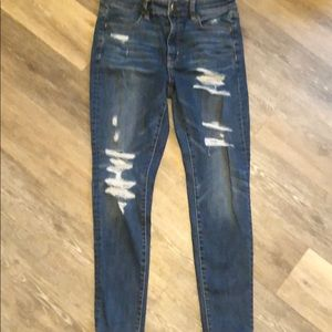 American Eagle Ripped Jeans Size 8 Short